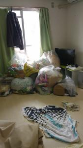 福山市松永町で家庭ごみ回収のビフォー写真