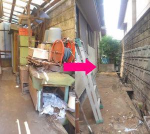 伊勢丘で家財道具、物置内の不用品回収の写真