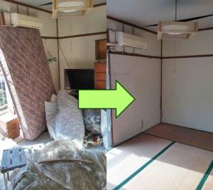 神辺町で冷蔵庫、ダブルベッドなど回収のお客様の画像2