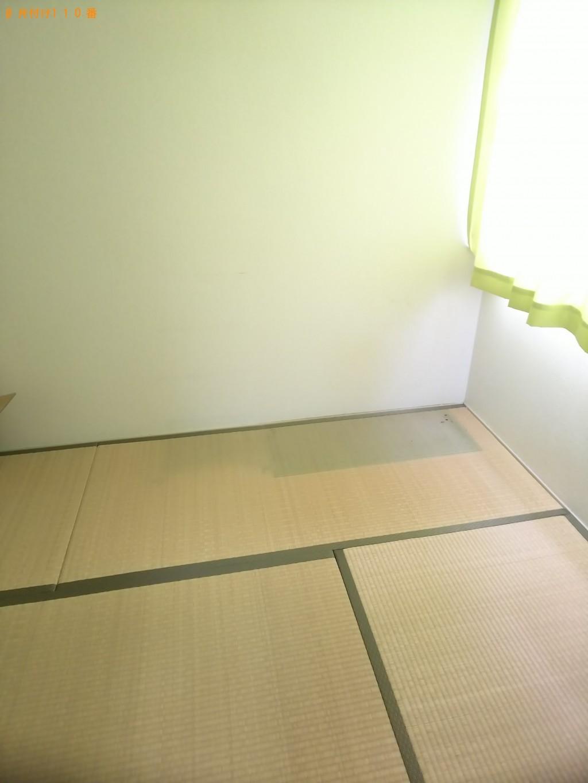 【福山市新市町】冷蔵庫、整理タンス、食器棚、スチール棚の回収