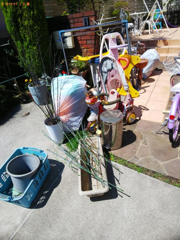 【福山市】プラスチック滑り台、布団干し、子供用自転車等の回収