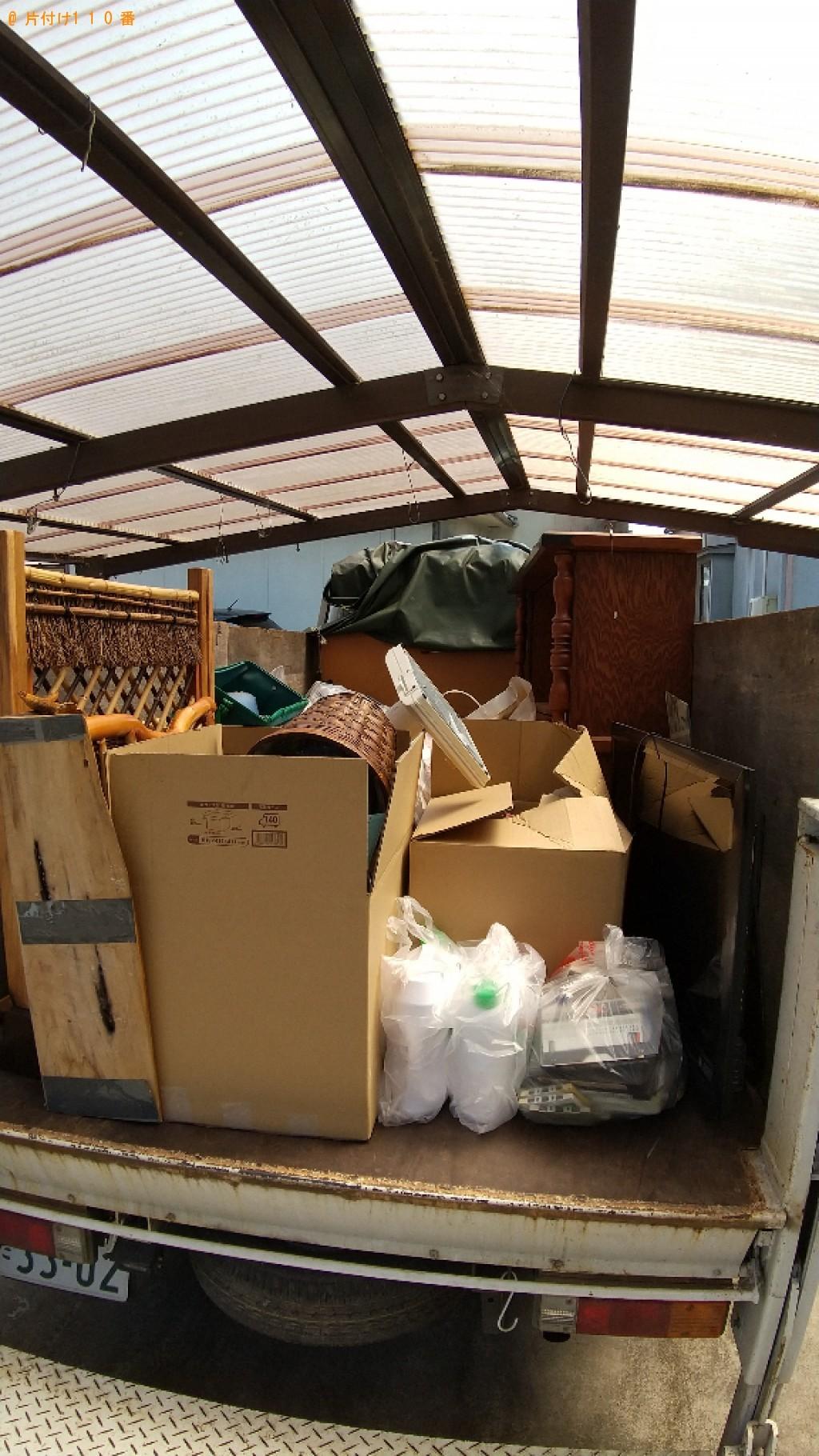 【福山市坪生町】テレビ、食器棚、テレビ台、一般ごみ等の回収・処分
