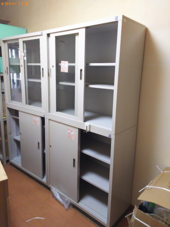 【福山市】エアコン、書庫、保管庫、ホームシェルフ等の回収