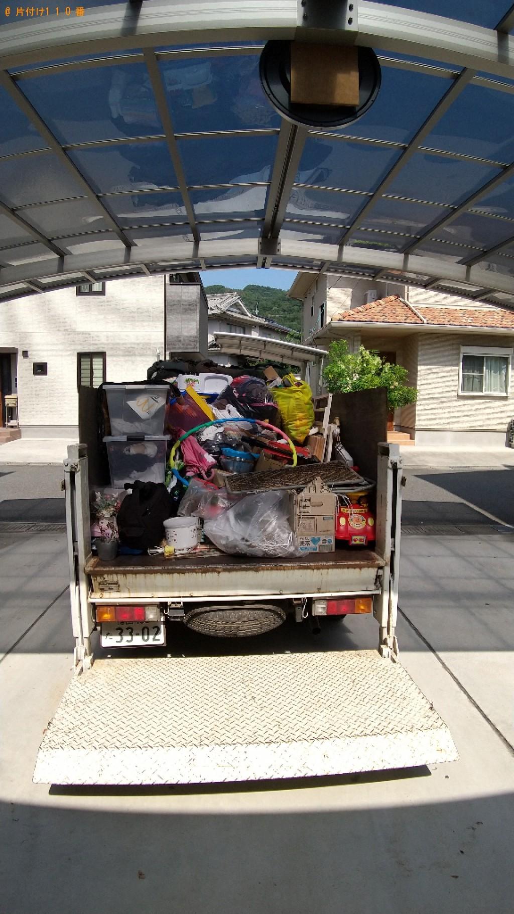 【福山市加茂町】収納ケース、衣類等の回収・処分ご依頼 お客様の声