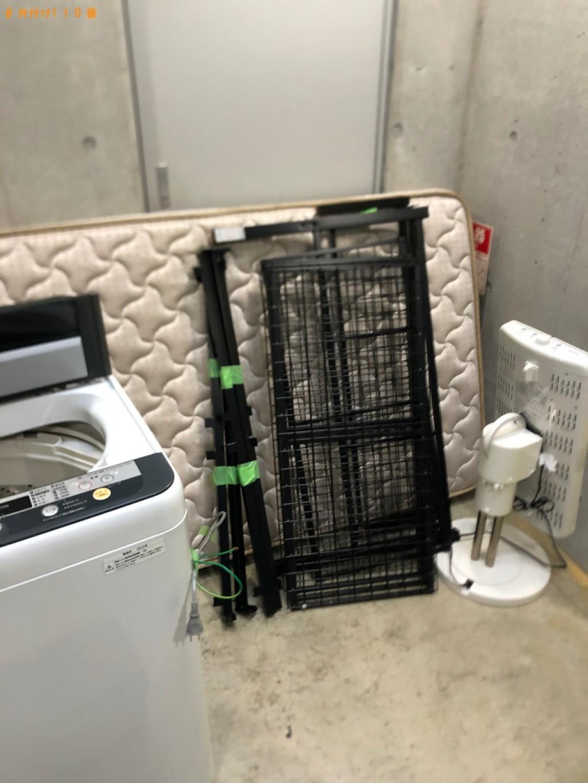 【福山市】洗濯機、マットレス付きシングルベッド等の回収・処分