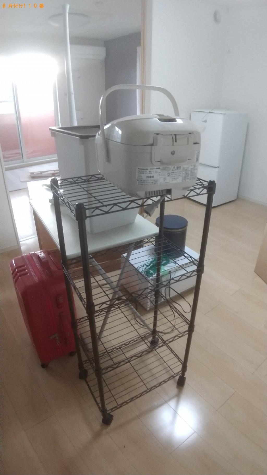 【福山市駅家町】炊飯器、メタルラック、スーツケース等の回収・処分